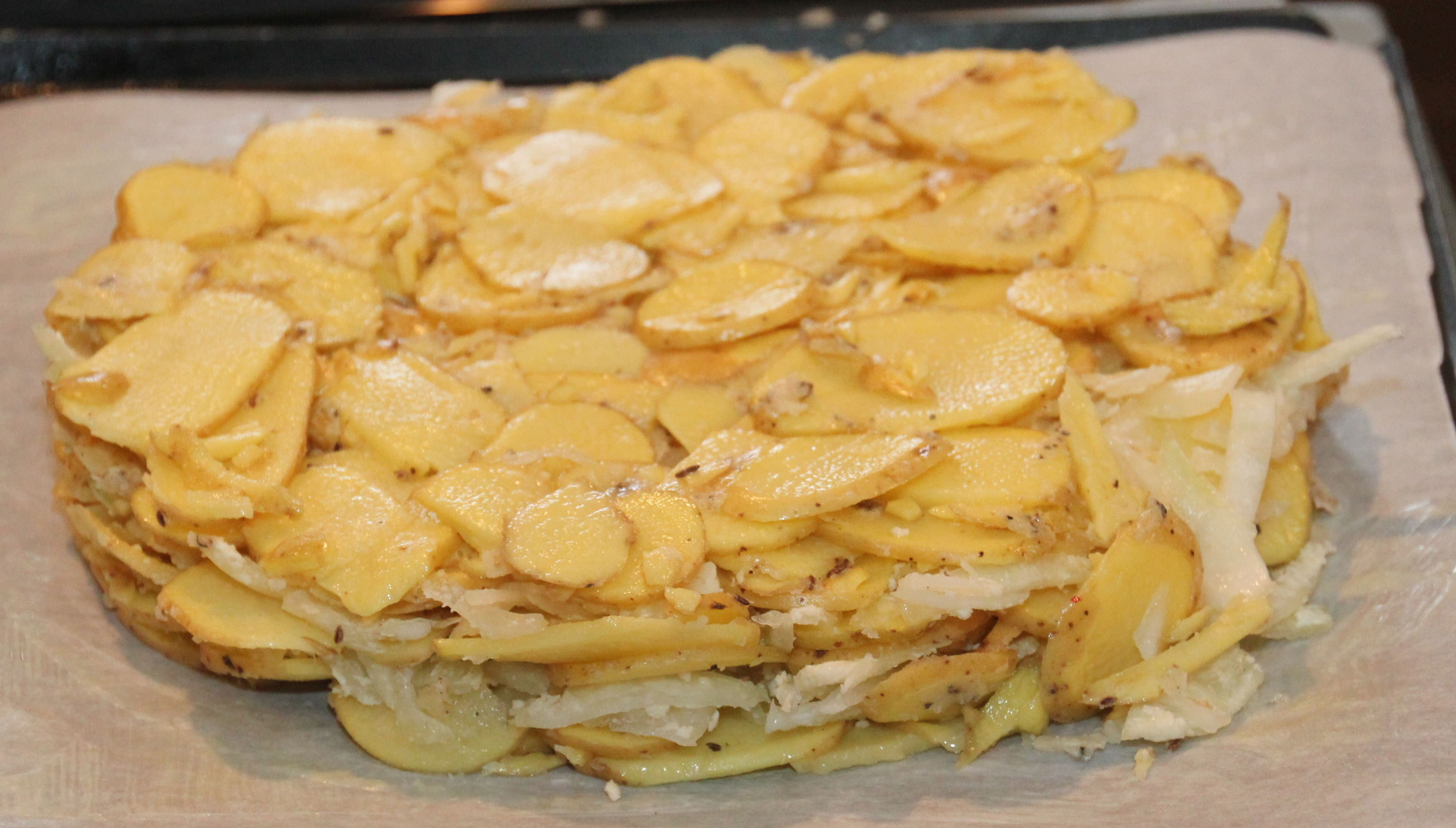 Duck Fat-Potato Galette With Caraway And Sweet Onions Recipe ...