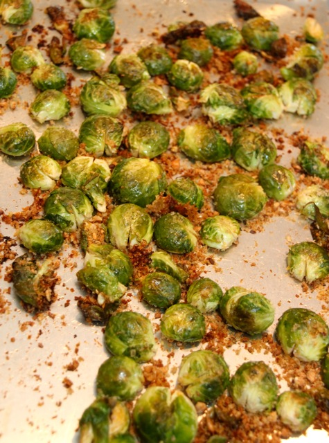 OVEN-ROASTED BRUSSELS SPROUTS  With Chipotle-Lemon Aioli (1/3)
