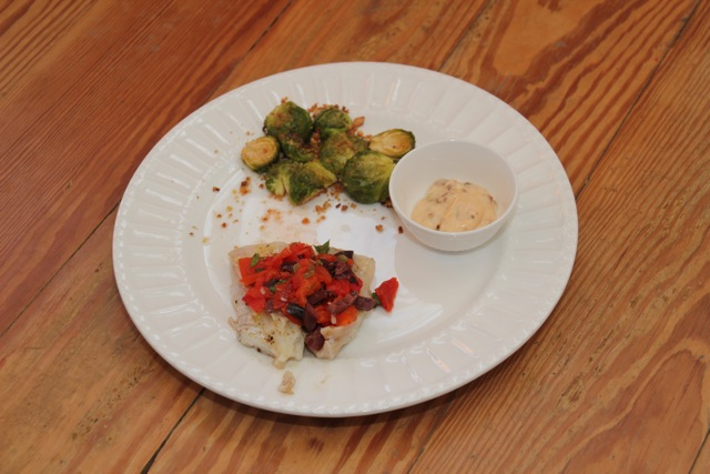 OVEN-ROASTED BRUSSELS SPROUTS  With Chipotle-Lemon Aioli (3/3)